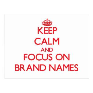Guarde la calma y el foco en marcas de fábrica postal