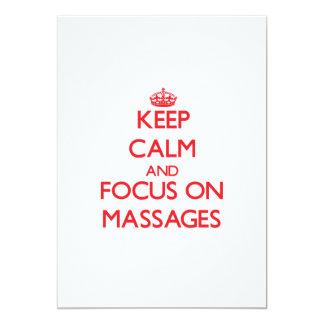 Guarde la calma y el foco en masajes comunicados personales