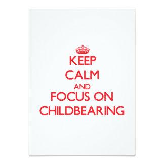 Guarde la calma y el foco en maternidad invitacion personal