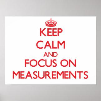 Guarde la calma y el foco en medidas