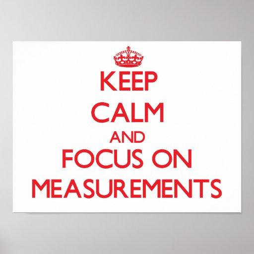 Guarde la calma y el foco en medidas impresiones