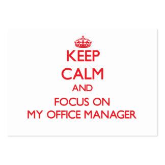 Guarde la calma y el foco en mi administrador de o