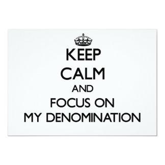 Guarde la calma y el foco en mi denominación anuncio personalizado