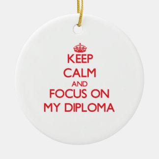 Guarde la calma y el foco en mi diploma