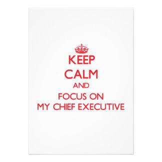 Guarde la calma y el foco en mi ejecutivo