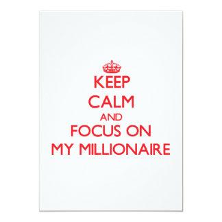 Guarde la calma y el foco en mi millonario comunicados