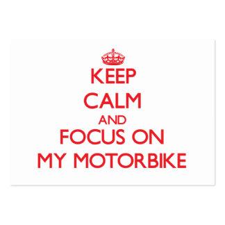 Guarde la calma y el foco en mi moto