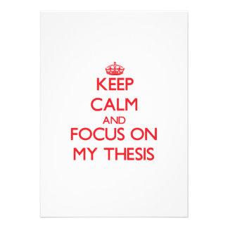 Guarde la calma y el foco en mi tesis