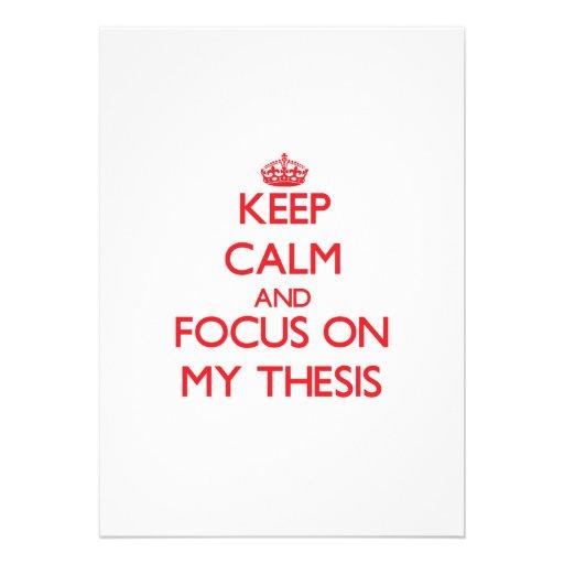 Guarde la calma y el foco en mi tesis comunicado