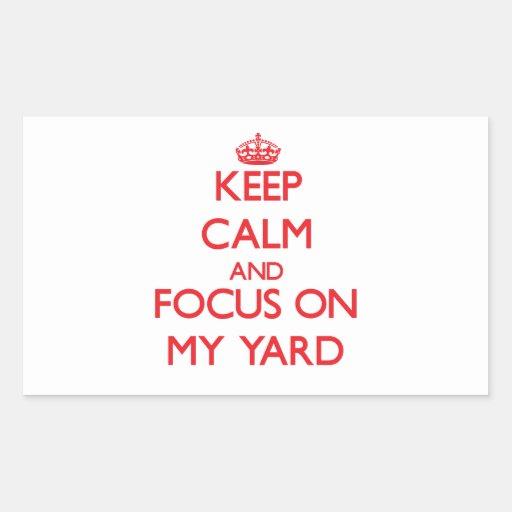 Guarde la calma y el foco en mi yarda rectangular altavoces