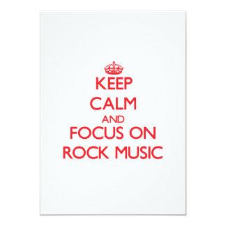 Guarde la calma y el foco en música rock comunicado personalizado