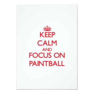 Guarde la calma y el foco en Paintball Invitacion Personal
