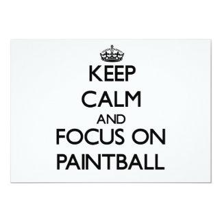 Guarde la calma y el foco en Paintball Invitacion Personalizada