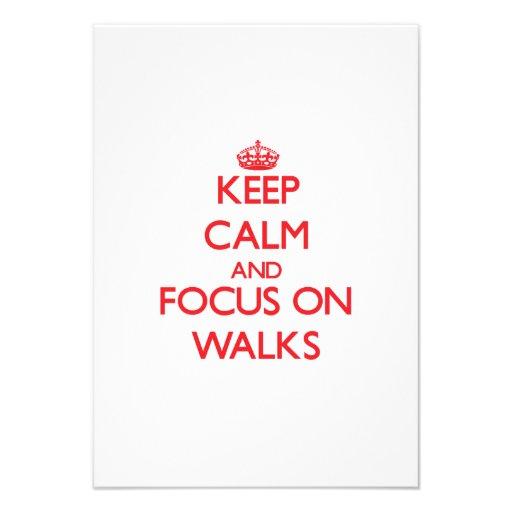 Guarde la calma y el foco en paseos invitaciones personales
