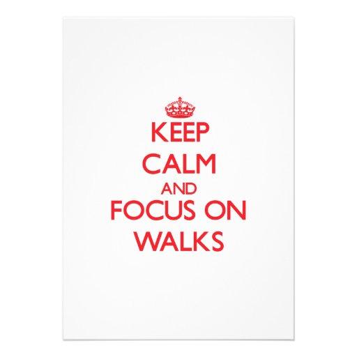 Guarde la calma y el foco en paseos comunicado personalizado
