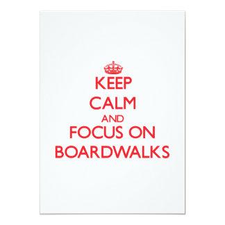 Guarde la calma y el foco en paseos marítimos invitacion personalizada