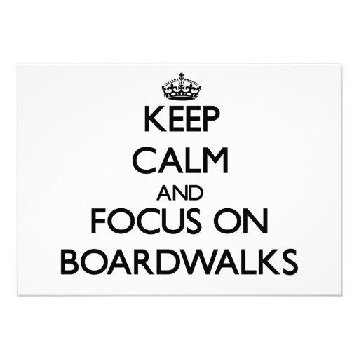 Guarde la calma y el foco en paseos marítimos anuncio