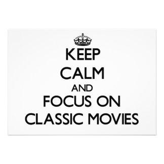 Guarde la calma y el foco en películas clásicas comunicado