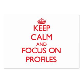 Guarde la calma y el foco en perfiles