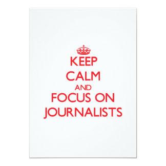 Guarde la calma y el foco en periodistas invitacion personal