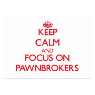Guarde la calma y el foco en prestamistas
