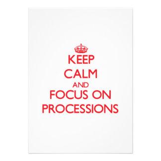 Guarde la calma y el foco en procesiones