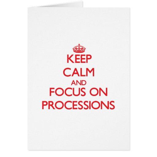 Guarde la calma y el foco en procesiones tarjeton