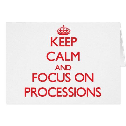 Guarde la calma y el foco en procesiones felicitación