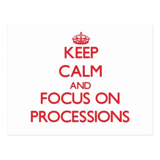 Guarde la calma y el foco en procesiones tarjetas postales