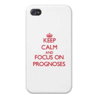 Guarde la calma y el foco en pronósticos iPhone 4/4S carcasa