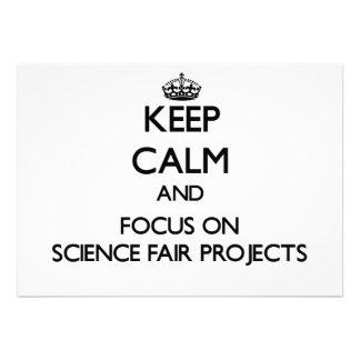Guarde la calma y el foco en proyectos de la feria