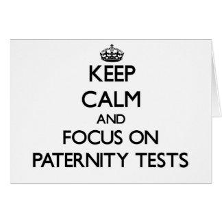 Guarde la calma y el foco en pruebas de paternidad felicitacion