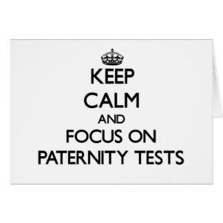 Guarde la calma y el foco en pruebas de paternidad felicitación
