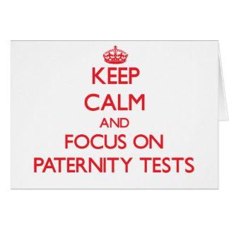Guarde la calma y el foco en pruebas de paternidad tarjetón