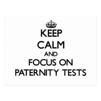 Guarde la calma y el foco en pruebas de paternidad postales