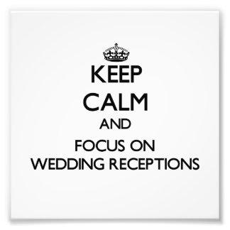Guarde la calma y el foco en recepciones nupciales