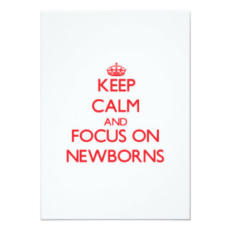 Guarde la calma y el foco en recién nacidos anuncios