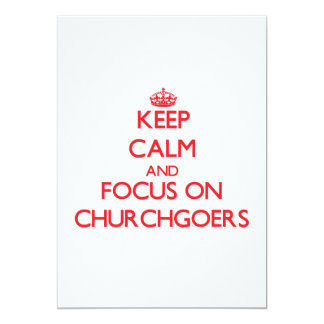 Guarde la calma y el foco en religiosos invitaciones personalizada