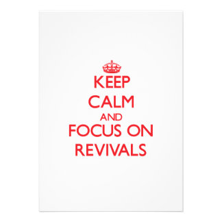 Guarde la calma y el foco en renacimientos invitaciones personalizada