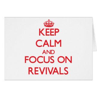 Guarde la calma y el foco en renacimientos