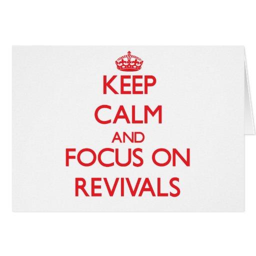 Guarde la calma y el foco en renacimientos tarjeton