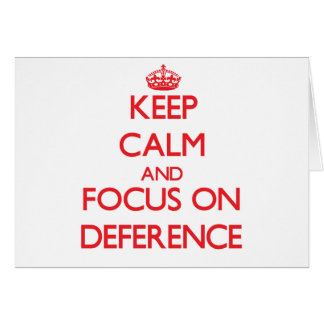 Guarde la calma y el foco en respeto