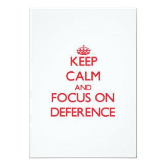 Guarde la calma y el foco en respeto comunicados personales
