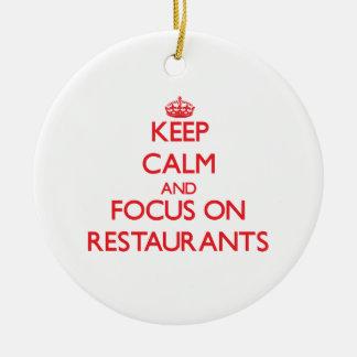 Guarde la calma y el foco en restaurantes