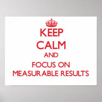 Guarde la calma y el foco en resultados mensurable