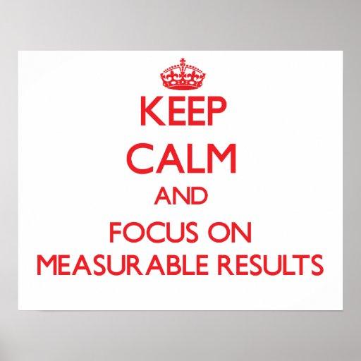Guarde la calma y el foco en resultados mensurable impresiones