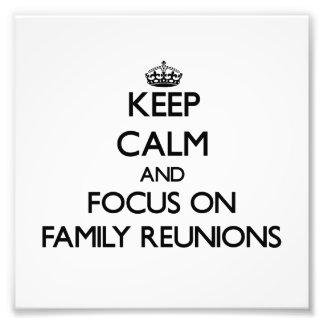 Guarde la calma y el foco en reuniones de familia fotografias
