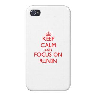 Guarde la calma y el foco en riña iPhone 4 cobertura