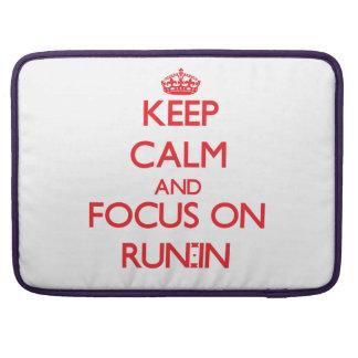 Guarde la calma y el foco en riña funda para macbook pro
