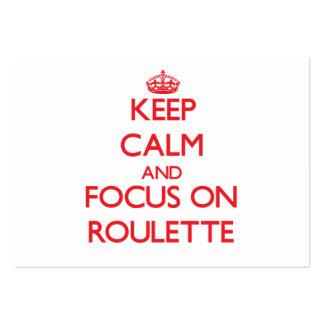 Guarde la calma y el foco en ruleta tarjeta de visita